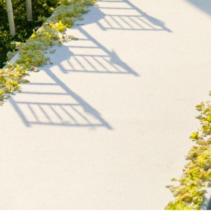 White Carpet Runner outdoors