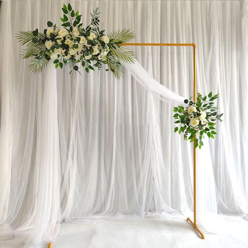 Copper Frame Backdrop with draping