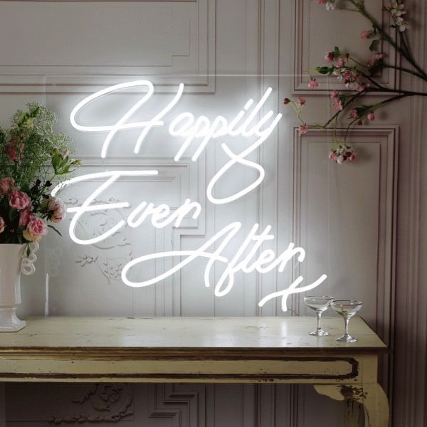 Happily Ever After sign on table