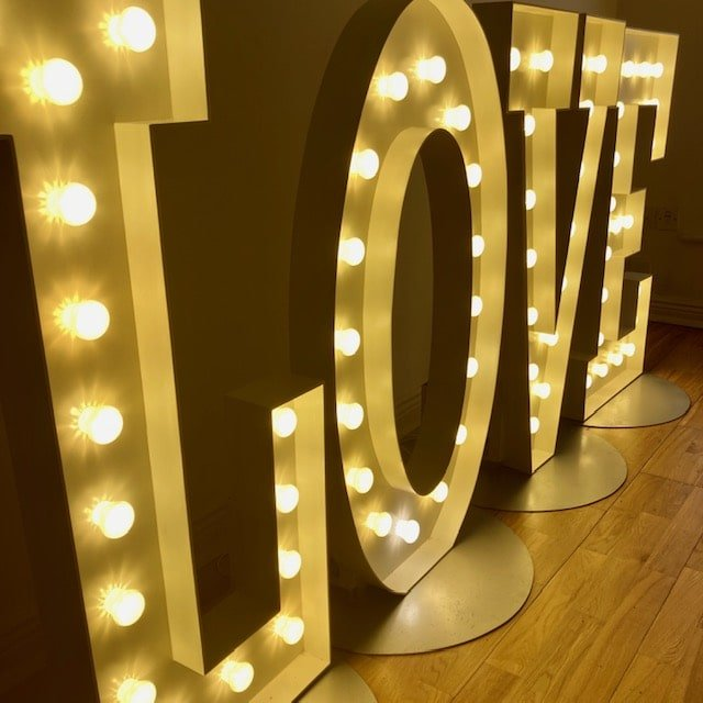 Illuminated letters of love