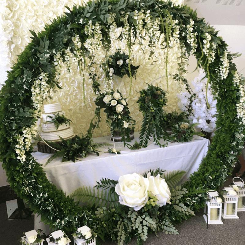 green moon gate wedding arch