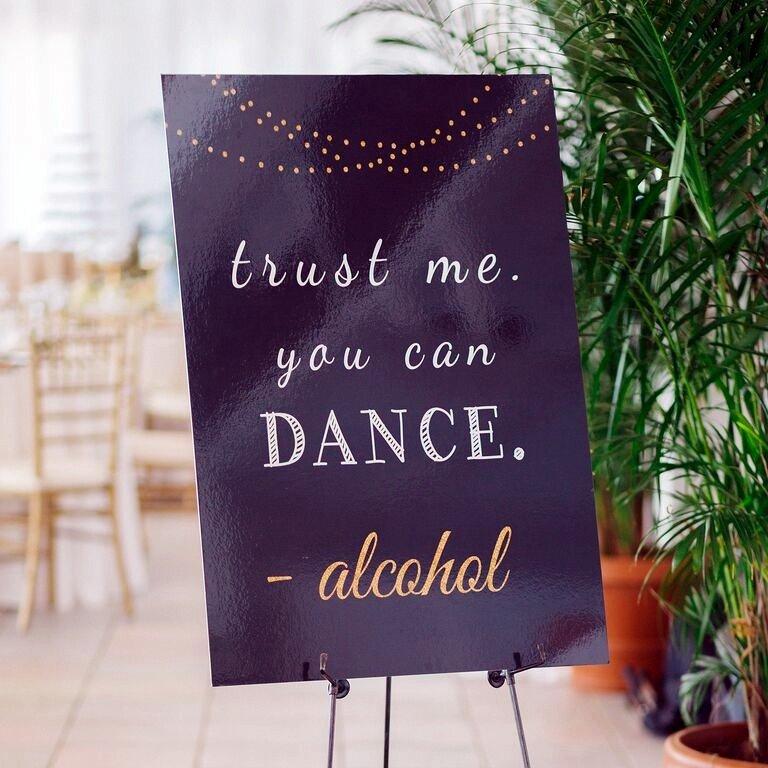 alcohol dance sign